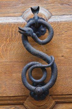 Snake door knocker