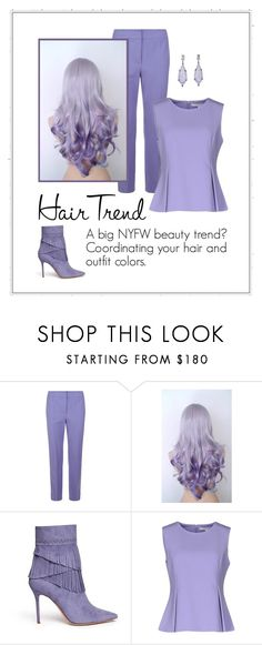 """""""Matchy"""" by patricia-dimmick ❤ liked on Polyvore featuring beauty, Armani Collezioni, Aperlaï, Diane Von Furstenberg, hairtrend and rainbowhair"""