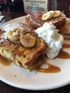 The Broken Yolk Cafe - tiki French toast, nutella crepes and eggs benedict - Pacific Beach, Ca I Want Food, Think Food, Cute Food, Plats Healthy, Sweet Recipes, Snack Recipes, Snacks, Tasty, Yummy Food