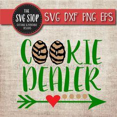 Cookie Dealer Design Svg Cut File Clipart | The SVG Stop Girl Scout Cookie Image, Girl Scout Cookie Sales, Brownie Girl Scouts, Girl Scout Troop, Gs Cookies, Cookies Et Biscuits, Girl Scout Cookies Flavors, Silhouette Machine, Silhouette Files