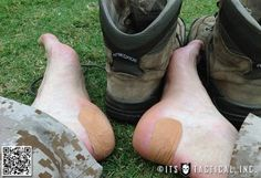 how to take care of your feet and prevent blisters with leukotape
