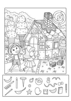 Back To School Number Order Cut & Paste Preschool Worksheets, Preschool Activities, Childhood Education, Kids Education, Hidden Pictures Printables, Emotions Preschool, Hidden Picture Puzzles, Hansel Y Gretel, Hidden Objects