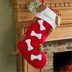 Personalized Christmas Stockings for Dogs  $.