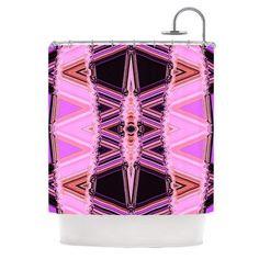 KESS InHouse Shower Curtain Color: Decorama Pink