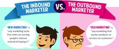 The differences between inbound and outbound marketing. Reasons why inbound marketing is more effective. Inbound Marketing, Marketing Digital, Marketing Online, Marketing Articles, Content Marketing, Internet Marketing, Business Articles, Marketing Tools, Learn A New Skill
