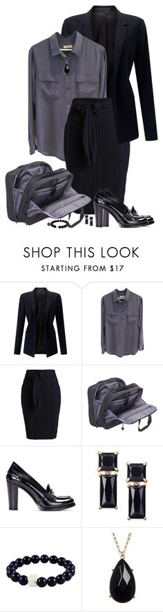"""""""Office"""" by marionmeyer ❤ liked on Polyvore featuring Jigsaw, Equipment, Hedgren, Church's, Kate Spade, 14th & Union and office"""