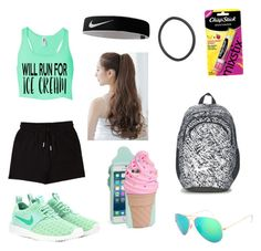 """""""Jett"""" by fashionprincessfoeves on Polyvore featuring &nd B, NIKE, Chapstick, Pin Show, Kate Spade and Ray-Ban"""