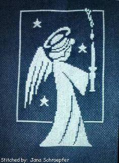 Little Angel cross stitch pattern.