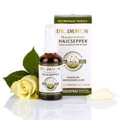 DR. IMMUN 25 gyógynövényes Hajcseppek hajhullás, korpásodás ellen Sauce Bottle, Hair Beauty, Cute Hair