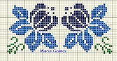 Maria Gomes : Os Meus Gráficos de Ponto Cruz Cross Stitch Borders, Cross Stitch Flowers, Cross Stitch Patterns, Plastic Canvas, Mittens, Hello Kitty, Knit Crochet, Embroidery, Knitting