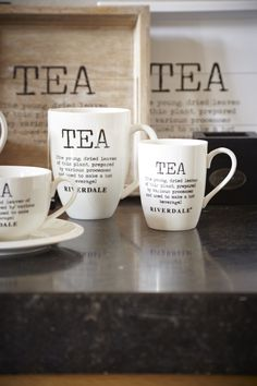 Tea Time comes early with these cute mugs. Tea For One, My Cup Of Tea, Tea Biscuits, Tea And Books, Cuppa Tea, Chocolate Coffee, Tea Accessories, Tea Ceremony, High Tea