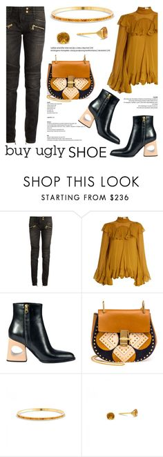 """""""Ugly (But Chic?!) Shoes"""" by blossom-jewels ❤ liked on Polyvore featuring Balmain, Chloé, Marni, contestentry, uglyshoes and Blossomjewels"""