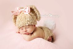 Ashley's Posh Tots — Floppy ear baby bunny hat and diaper cover set