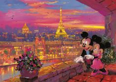 James Coleman : Mickey à Paris Puzzle 1000 pièces