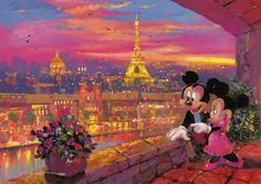 James Coleman : Mickey à Paris Puzzle 1000 pièces