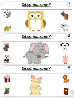 O est ma rime Speech Therapy Activities, Educational Activities, Activities For Kids, Primary Teaching, Teaching Tools, Early Literacy, Literacy Centers, Kindergarten Online, Grande Section