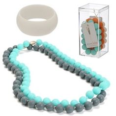 Chew Beads ~ new jewelry for mom's to wear that is safe for teething babies     via Notcouture