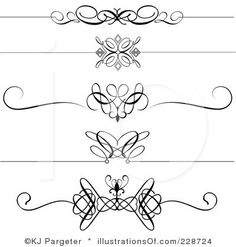 Free black Clip Art Borders and Frames weddings | Stock vector of ...