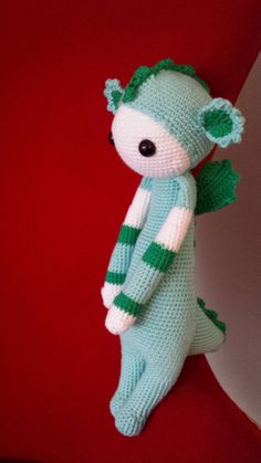 DIRK the dragon made by Irena P. / crochet pattern by lalylala
