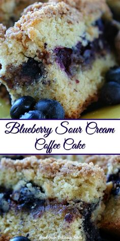 Blueberry Sour Cream Coffee Cake is moist, loaded with bursting blueberries and a crumb topping. Blueberry Sour Cream Coffee Cake is moist, loaded with bursting blueberries and a crumb topping. Blueberry Desserts, Blueberry Bread, Blueberry Recipes With Sour Cream, Blueberry Coffee Cakes, Cinnamon Coffee Cakes, Desserts With Sour Cream, Blueberry Breakfast Recipes, Frozen Blueberry Recipes, Blueberry Muffin Cake