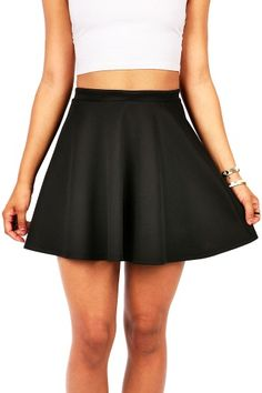 Classic Skater Skirt   $ 22.99      Classic skater skirt with a stretchy waistband. Pair with your favorite tee and knee highs for a cute and casual look.