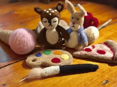 Excited to share this item from my shop: Lot of Stuffy Stuffie Lovie Smores Camping Wool Felt Props Ready to Ship Newborn Photo Props, Newborn Photos, Wet Felting, Needle Felting, Waldorf Toys, Unique Gifts For Her, Wool Felt, Felted Wool, Textile Art