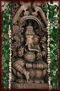 Make this Ganesha Chathurthi 2020 special with rituals and ceremonies. Lord Ganesha is a powerful god that removes Hurdles, grants Wealth, Knowledge & Wisdom. Lord Ganesha, Jai Ganesh, Ganesha Pictures, Ganesh Images, Buddha, Ganesha Painting, Ganesha Art, Lord Murugan, Elephant Tattoos