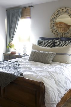 Cozy, cool and classic, this bedroom has got it together.