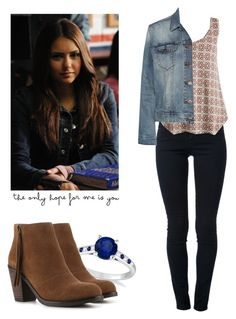 """Elena Gilbert - tvd / the vampire diaries"" by shadyannon ❤ liked on Polyvore featuring STELLA McCARTNEY, Allurez, Crown Vintage, Dr. Denim and Guide London"