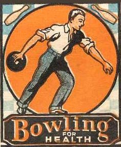 Matchbook - Bowling for Health. #frontstriker. To order your business' own branded #matchbooks go to: www.GetMatches.com or call 800.605.7331 Today!