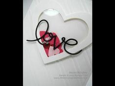 Stampin' Up! Heart Framelit Shaker Card - YouTube