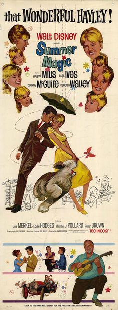 Summer Magic (1963) starring Hayley Mills, Burl Ives, Dorothy McGuire & Deborah Walley