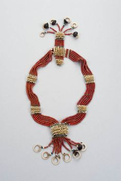Solomon Islands, Choiseul Island, Babatana area | Necklace made of trade beads and porpoise teeth | 19th/20th c. | Trade beads, porpoise teeth, shell rings, seeds, turtle shell spacers, fibre. Collected by Australian Sister Ethal McMillan of the Salvation Army in the period 1912-1920.  {This is just one of the 704 sumptuous images from the publication by Truus Daalder 'Ethnic Jewellery & Adornment' | www.facebook.com/...  }
