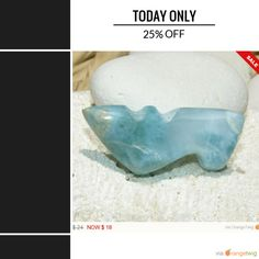 Today Only! 25% OFF this item. Follow us on Pinterest to be the first to see our exciting Daily Deals.  Today's Product: Sale -  1 Week Sale - Larimar Icy Blue Cinderella shoe cab carved cabochon pendant wire wrapping pectolite beach boho stone 8g 40ct.  Buy now: https://orangetwig.com/shops/AABCLyV/campaigns/AACI1xw?cb=2016003&sn=MyBeachStore&ch=pin&crid=AACI1xq&e..