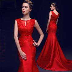 ericdress.com offers high quality  Ericdress Scoop Neck Appliques Beaded Bowknot Mermaid Evening Dress  Elegant Evening Dresses unit price of $ 122.54.