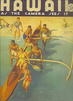 Hawaii surf poster