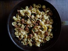 Orecchiette with Spicy Sausage and Ramps. My favorite kind of pasta! Dinner Party Recipes, Entree Recipes, Pasta Recipes, Noodle Recipes, Veg Recipes, Italian Recipes, Dinner Ideas, Ramp Recipe, Recipe Box