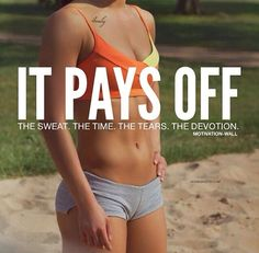 quote tan shorts fitblr fitspo motivation orange healthy fit abs fitness workout flat stomach fitspiration Sports Bra it pays off