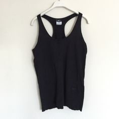 Nike black dri-fit mesh tank medium Super cute and loose flowing. Mesh material is breathable and very comfortable. minor pilling due to material, it could just be lint. White one also listed. Bundle to save 25%! Nike Tops