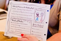 We're loving this clever bridal shower game card!