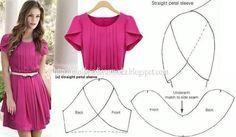 petal sleeve pattern drafting