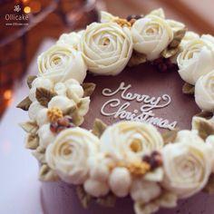 韩式裱花蛋糕 - Christmas Cake | Ollicake