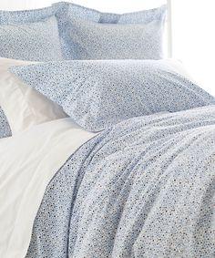 Pine Cone Hill Confetti French Blue Linen Duvet Cover