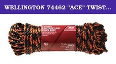 "WELLINGTON 74462 ""ACE"" TWISTED TRUCK ROPE POLY-PRO 1/2"" x 100'(Pack of 6). Brand Name: Ace *Rope Diameter: 1/2 in. *Rope Length: 100 ft. *Rope Configuration: Twisted *Material: Poly *Product Type: Rope *Color Family: Black *Number in Package: 1 *Weather Resistant: No *Floats in Water: No *Size: 1/2 in. *Load Limit: 400 lb."