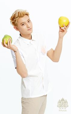 Hmmm, how to pose with fruit and still look like a bad ass...