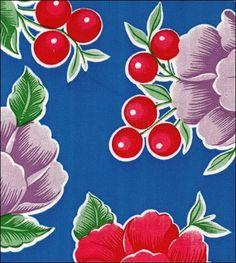 Poppy Blue Oilcloth
