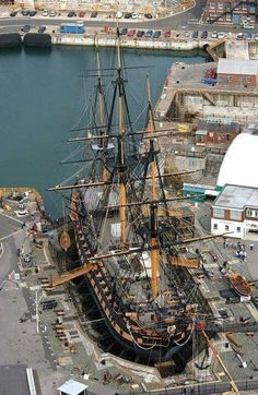 This England — Nelson's Flag Ship HMS Victory Portsmouth Tall Ships, Old Sailing Ships, Ocean Sailing, Hms Victory, Old Boats, Wooden Ship, Yacht Boat, Submarines, Wooden Boats