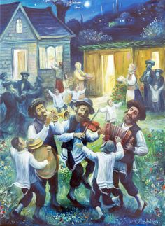 The Joy of Sukkot, Boris Shapiro (Ukrainian-Israeli Artist was born in 1968 in Lvov, Ukraine; since 1991 lives in Israel)