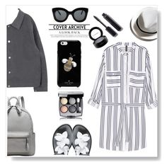 """""""Styling H&M Shirt Dress.."""" by gul07 ❤ liked on Polyvore featuring Melissa, H&M, CÉLINE, Kate Spade, Chanel and MAC Cosmetics"""