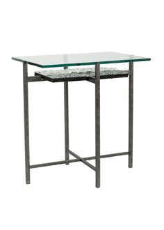 custom mosaic designs for our glass-top, hand-forged accent tables